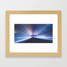 METRO NIGHTS Framed Art Print