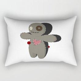 Voodoo doll. Cartoon horror elements. Spooky fear trick or treat Rectangular Pillow