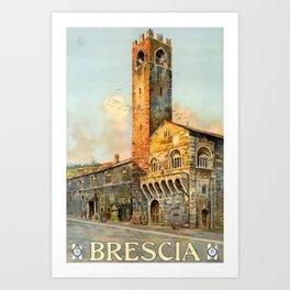 Vintage Placard Brescia Art Print