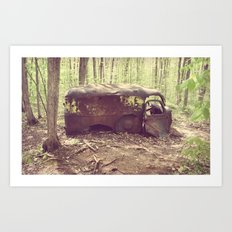 Old Abandoned Truck Art Print