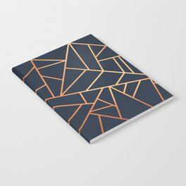 Copper and Midnight Navy Notebook