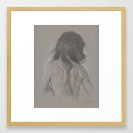 Back drawing Framed Art Print