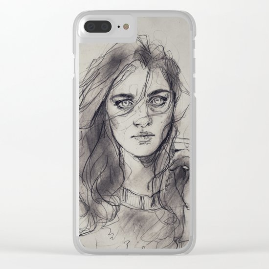 violet hill Clear iPhone Case