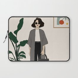 Girl on day of birth Laptop Sleeve