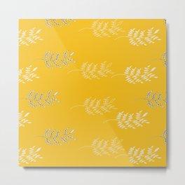 Yellow Fern Metal Print