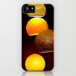 Colorful, playful lights iPhone Case