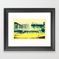 Pike Place Market   Project L0̷SS   Framed Art Print