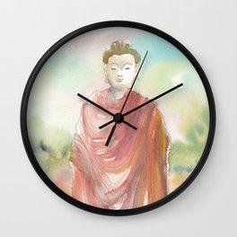 Buddha Walking Wall Clock