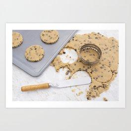 Making cookies Art Print