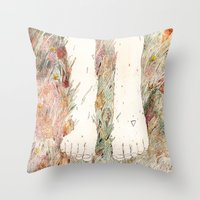perfume Throw Pillows featuring Perfume #3 by Dao Linh