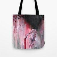 sakura Tote Bags featuring Sakura by Iris Compiet