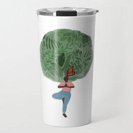 Tree & Nature Lover Yoga Illustration Travel Mug