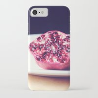 pomegranate iPhone & iPod Cases featuring pomegranate by Mary Carroll