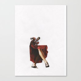 The gossipy girl of Shakespeare Canvas Print