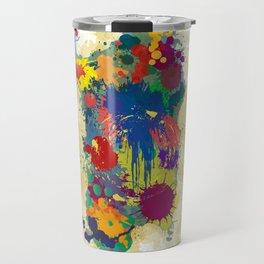 Sardinia, paint drops map Travel Mug