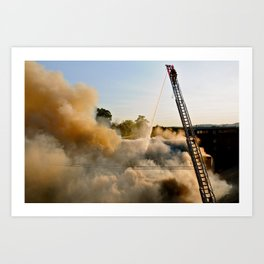 Fire in Frederick Art Print