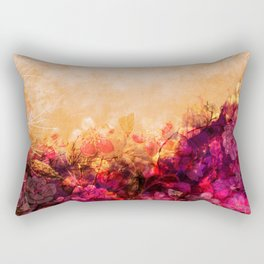 LOVELY FLOWERS ARE KISSING A YELLOW FIELD IV Rectangular Pillow