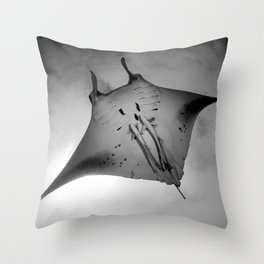 Manta Ride Throw Pillow