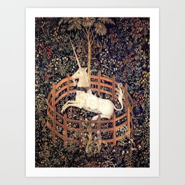 The Unicorn in Captivity Art Print