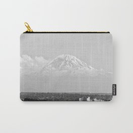 Hovering Mt Rainier in Mono Carry-All Pouch