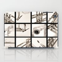 trumpet iPad Cases featuring trumpet by laika in cosmos