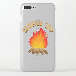 Campfire Camping Trip Adventure Clear iPhone Case