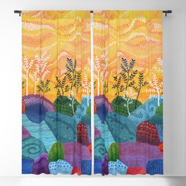 on and on fields Blackout Curtain