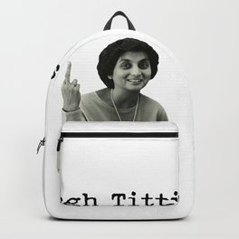 Tough Titties Ma Anand Sheela Wild Wild Country Backpack