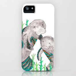 Manatees iPhone Case