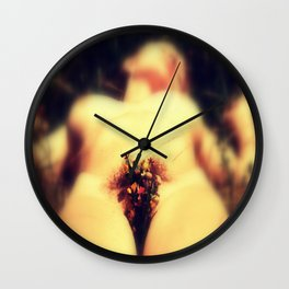 Romantic Floral Bush : Nude Art Wall Clock