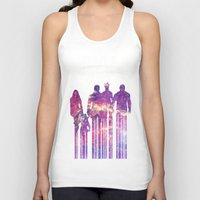 starlord Tank Tops featuring what a bunch of A-Holes by Iamzombieteeth Clothing