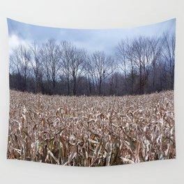 Field of Corn left Behind Wall Tapestry