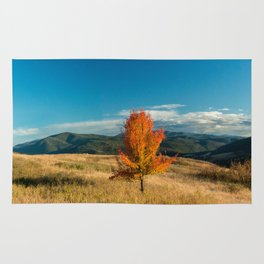 Simple Fall Tree Rug