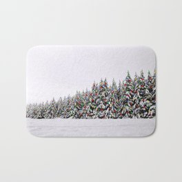 Festive Collage Bath Mat