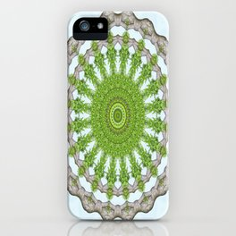 Bark Leaves Stone Kaleidoscope Art 3 iPhone Case