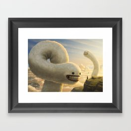 Fuzzy Cloud Worms Framed Art Print