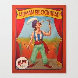 Human Blockhead Canvas Print