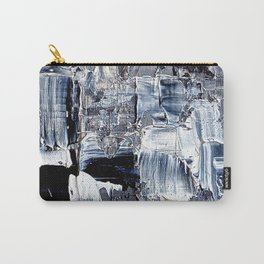 50 Shades... - black & white abstract painting Carry-All Pouch