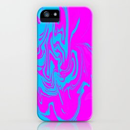 Blue and pink swirls  iPhone Case