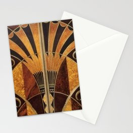 art deco wood Stationery Cards