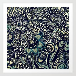 Black with a Tinge of Green Art Print