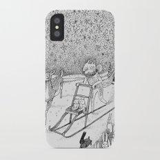 Kick-sledding Fox iPhone X Slim Case