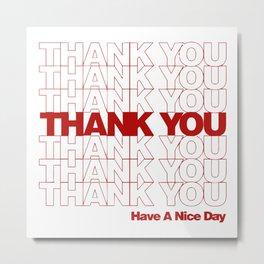 thankyou Metal Print