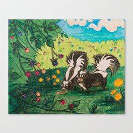 Skunk Picnic Canvas Print