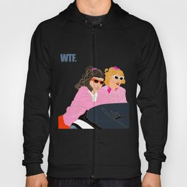 WTF - Grease Movie Vibes Got Me Like - Throwback Fan Digital Art Hoody