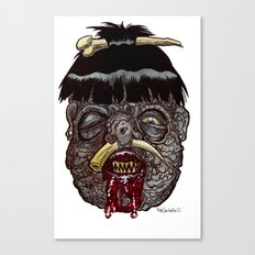 Heads of the Living Dead Zombies: Head Hunter Zombie Canvas Print
