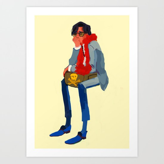 peter whitman (wes anderson) Art Print
