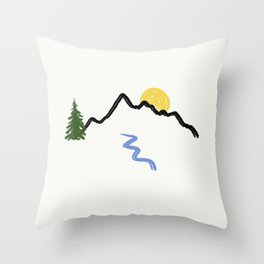Minimalist Outdoors Doodle Throw Pillow