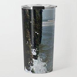 Ocean waves crash Travel Mug