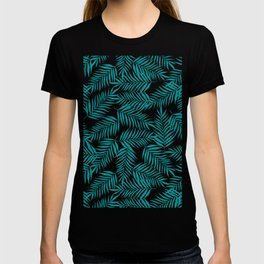 Turquoise Palm Leaves T-shirt